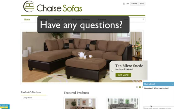 line Furniture Store – Chat to the Sales Team